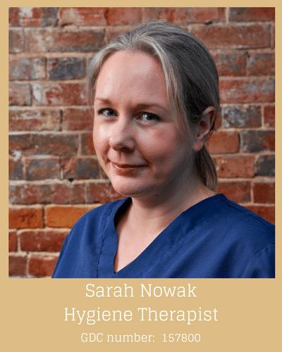 Sarah Nowak Hygiene Therapist